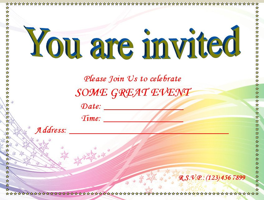 Free Blank Invitation Templates Invitation Youth Minister Riverchase Church Of Christ