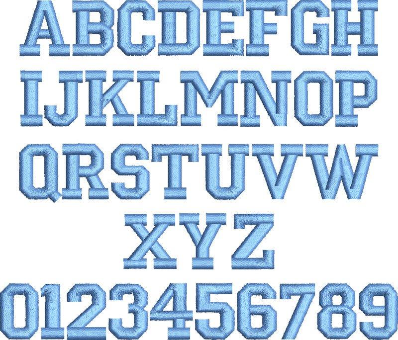 Free Block Letter Font 10 Varsity Block Font Block Letter Embroidery