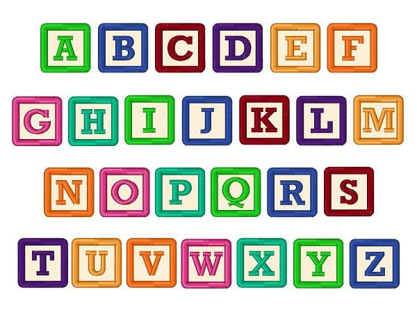 Free Block Letter Font Building Blocks Font Embroidery Font