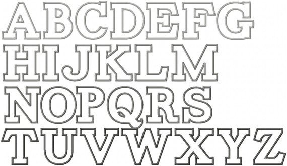 Free Block Letter Font Items Similar to Alphabet Applique Embroidery Font Instant