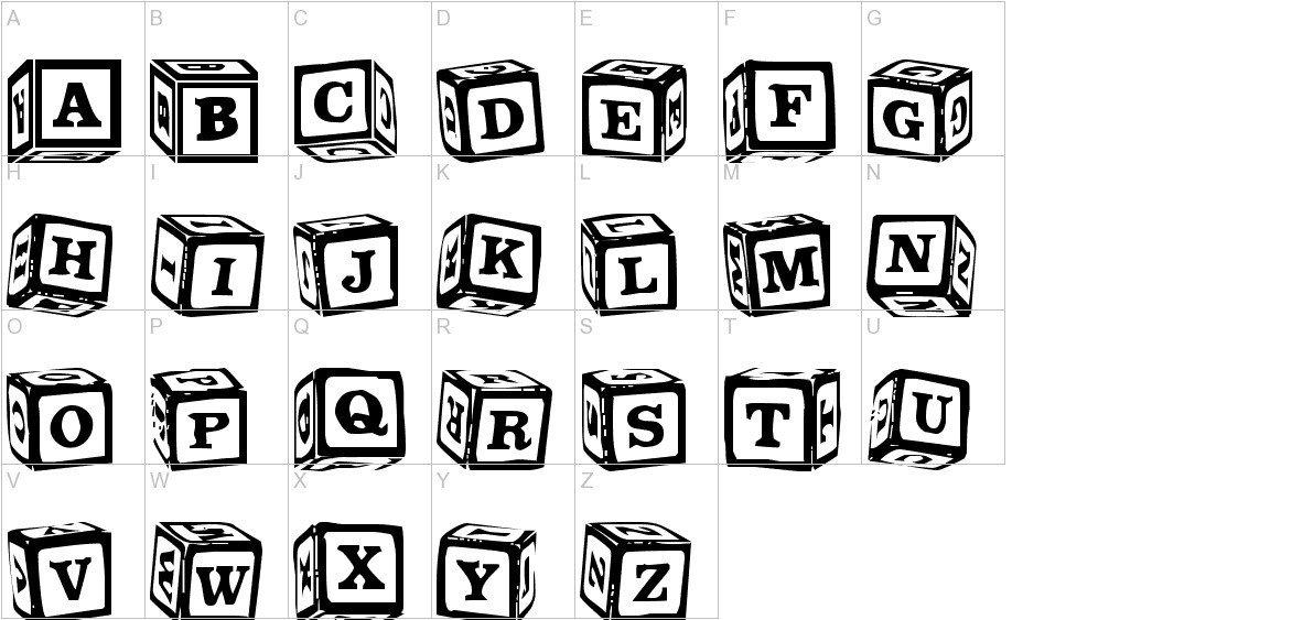 Free Block Letter Font Lms Lance S Letter Blocks Font