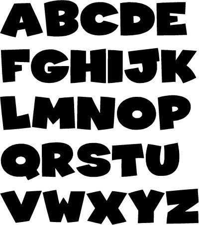 Free Block Letter Font Typeface Clipart Block Letter Pencil and In Color