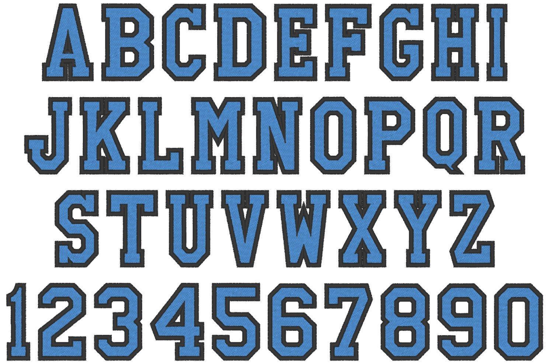 Free Block Letter Font Varsity Collegiate Collegiate Block Type Font Machine