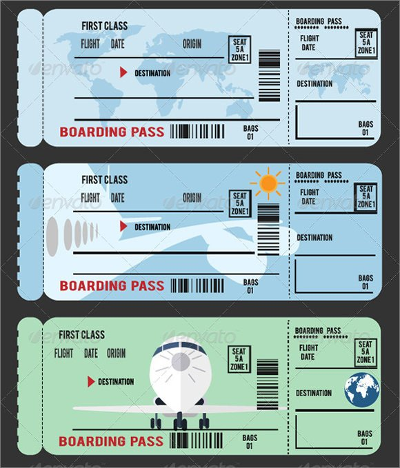Free Boarding Pass Template 16 Boarding Pass Samples Pdf Psd Vector Ai Word