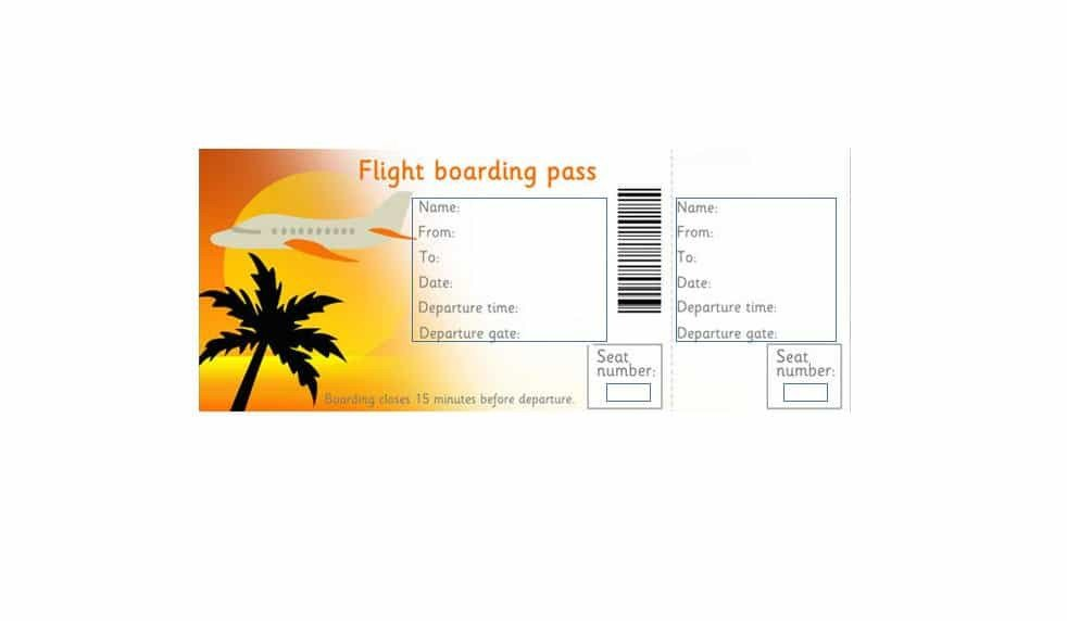 Free Boarding Pass Template 16 Real & Fake Boarding Pass Templates Free