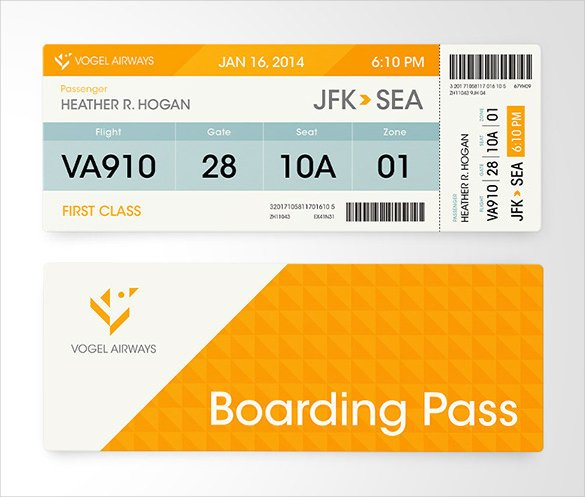 Free Boarding Pass Template 34 Examples Of Boarding Pass Design & Templates Psd Ai