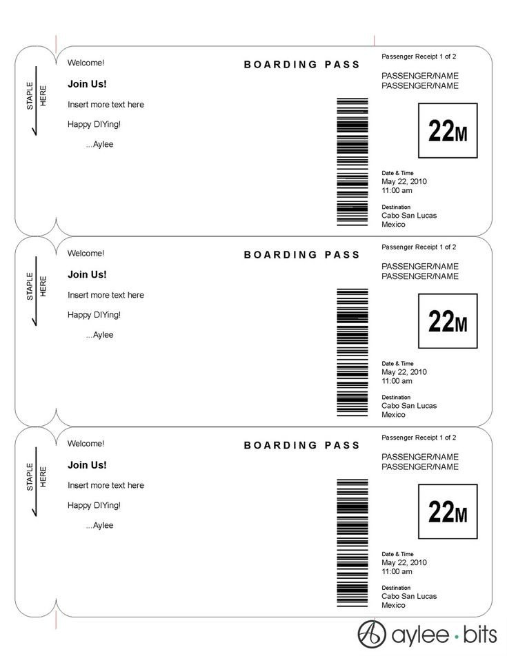Free Boarding Pass Template Best 25 Boarding Pass Invitation Ideas On Pinterest