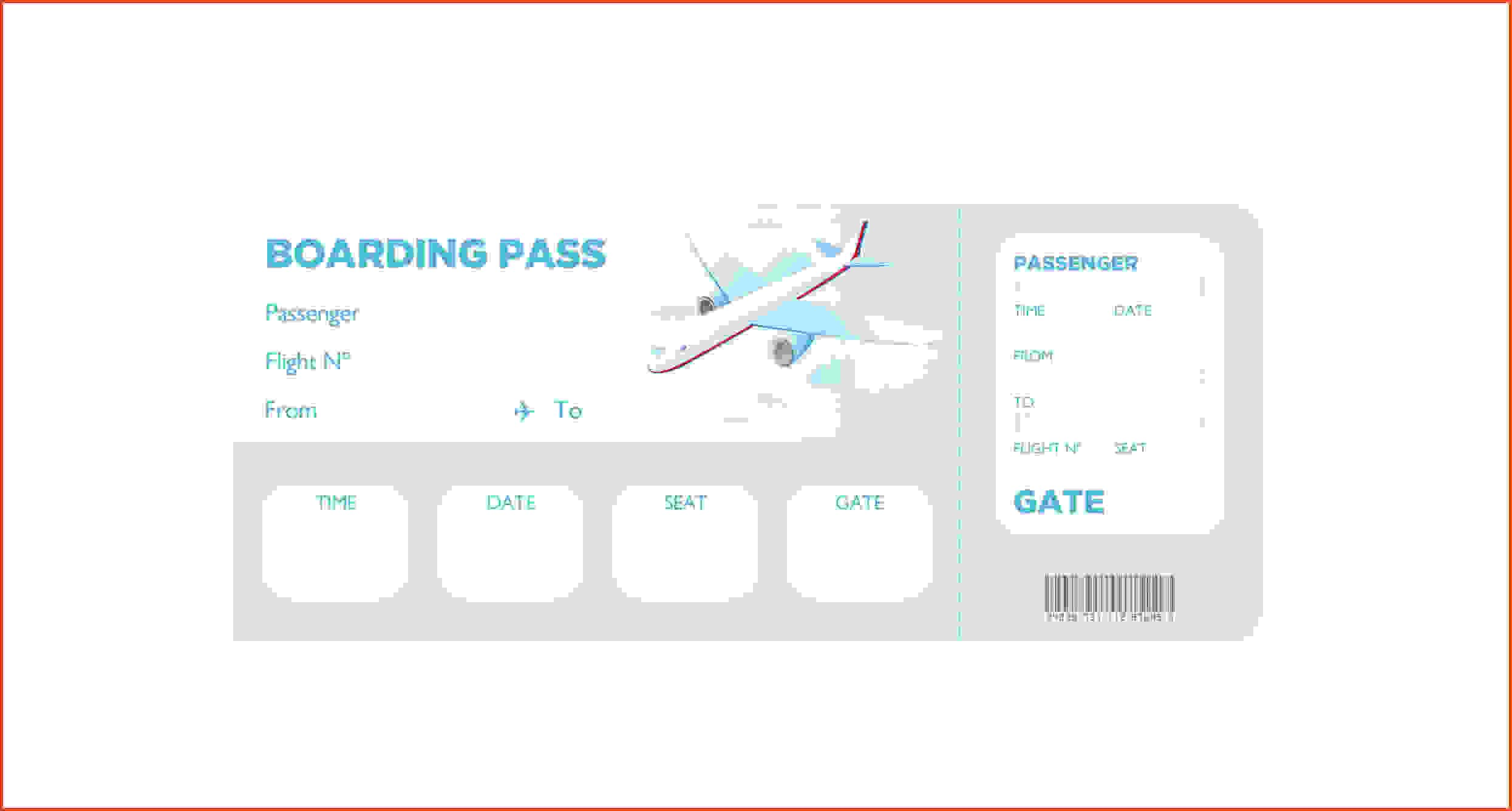 Free Boarding Pass Template Boarding Pass Template