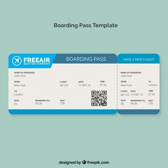 Free Boarding Pass Template Boarding Pass Vectors S and Psd Files
