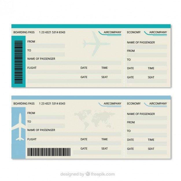 Free Boarding Pass Template Great Boarding Pass Template Vector