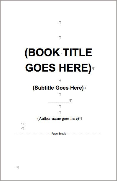 Free Booklet Template Word Books Printed Quickly for Self Publlishers at 48hrbooks