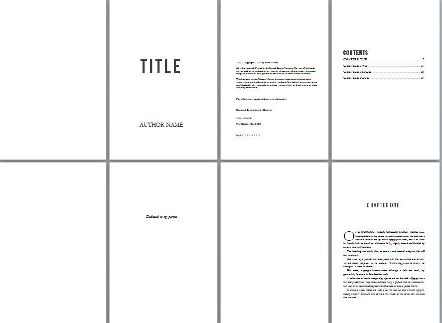 Free Booklet Template Word Free Book Design Templates and Tutorials for formatting In