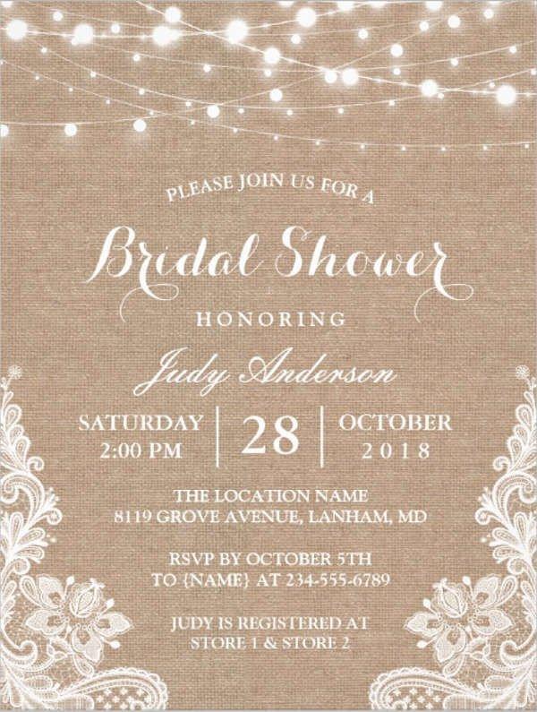 Free Bridal Shower Invitation Templates 26 Free Bridal Shower Invitations Psd Eps
