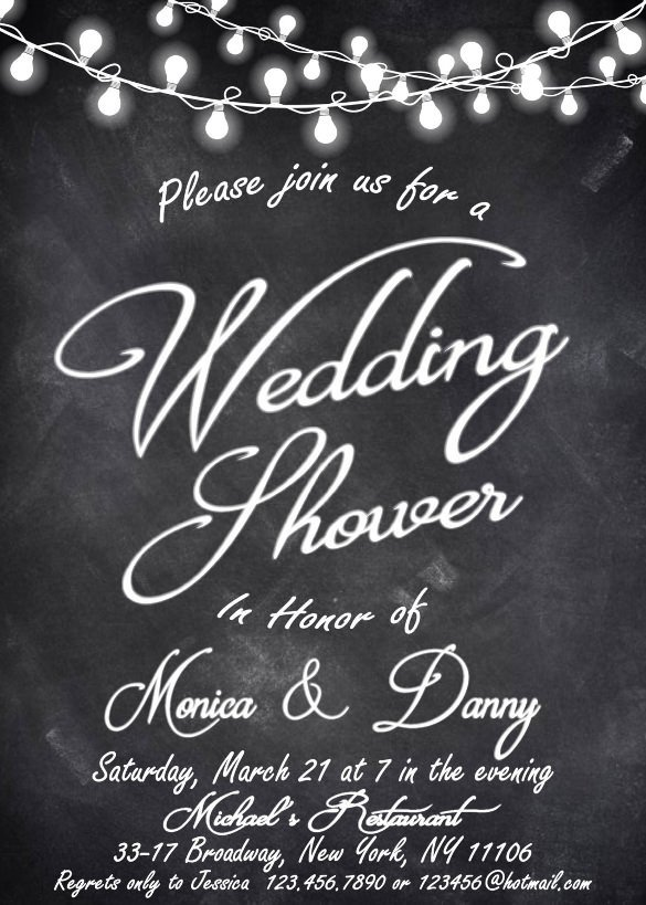 Free Bridal Shower Invitation Templates 27 Wedding Shower Invitation Templates – Free Sample
