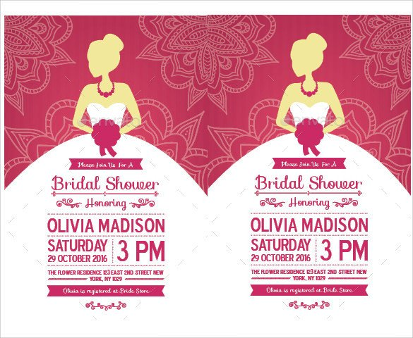 Free Bridal Shower Invitation Templates 33 Best Bridal Shower Invitation Templates Word Psd Ai