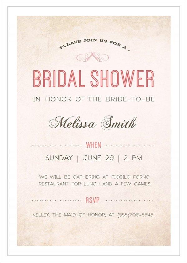 Free Bridal Shower Invitation Templates 33 Best Bridal Shower Invitation Templates Word Psd Ai