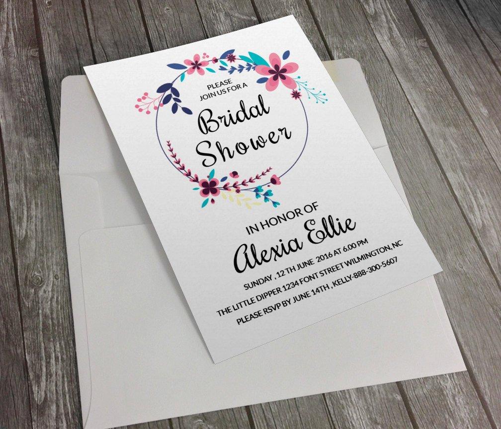 Free Bridal Shower Invitation Templates Bridal Shower Invitation Template Diy Printable Bridal
