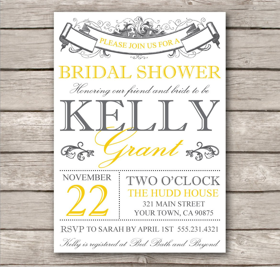 Free Bridal Shower Invitation Templates Chandeliers & Pendant Lights