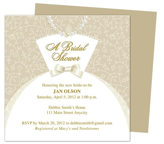 Free Bridal Shower Invitation Templates Dress Bridal Shower Invitation Templates Printable Diy