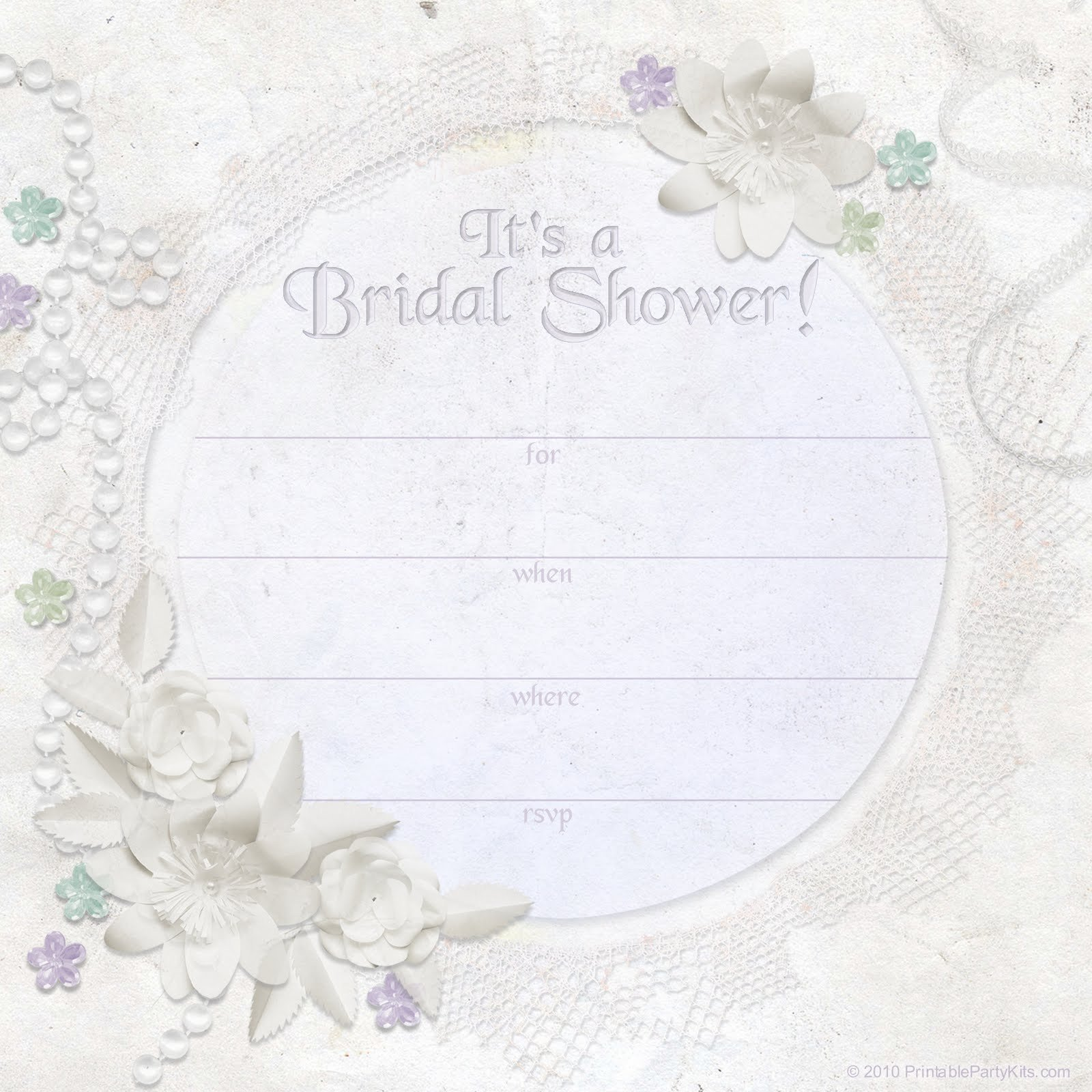 Free Bridal Shower Invitation Templates Free Printable Party Invitations Ivory Dreams Bridal