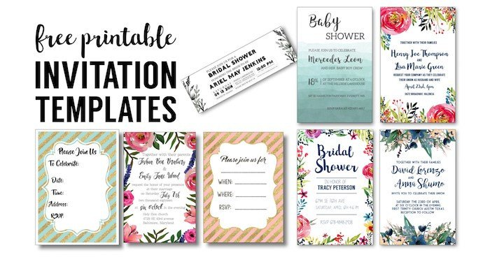 Free Bridal Shower Invitation Templates Party Invitation Templates Free Printables Paper Trail