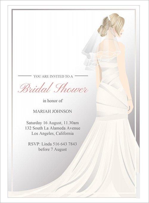 Free Bridal Shower Invitation Templates Sample Invitation Template Download Premium and Free