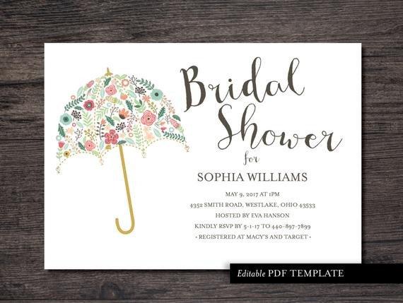 Free Bridal Shower Invitation Templates Umbrella Bridal Shower Invitation Template Bridal by