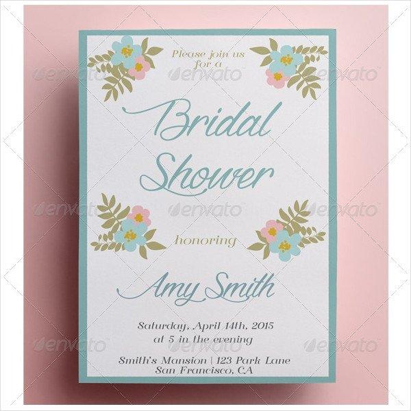 Free Bridal Shower Templates 24 Bridal Shower Invitation Templates & Creatives Word