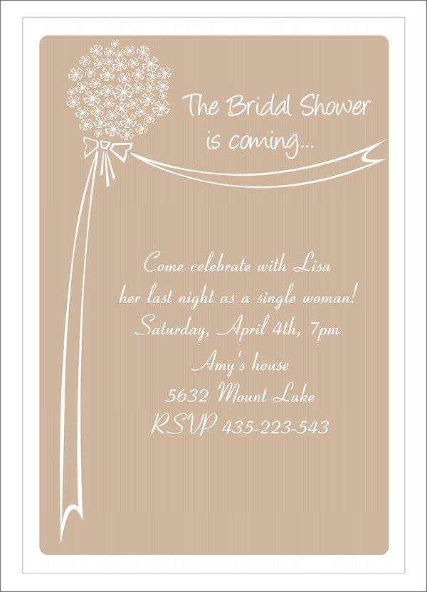 Free Bridal Shower Templates 25 Bridal Shower Invitation Templates Download Free