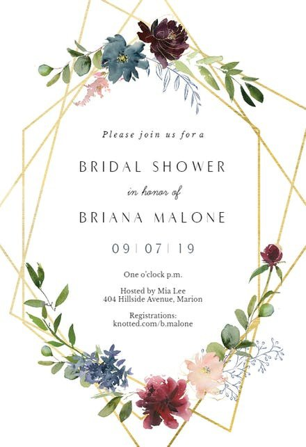 Free Bridal Shower Templates Bridal Shower Invitation Templates Free