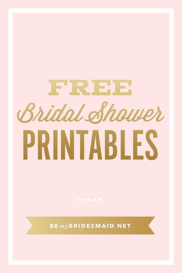 Free Bridal Shower Templates Free Printables for Bridal Shower Planning