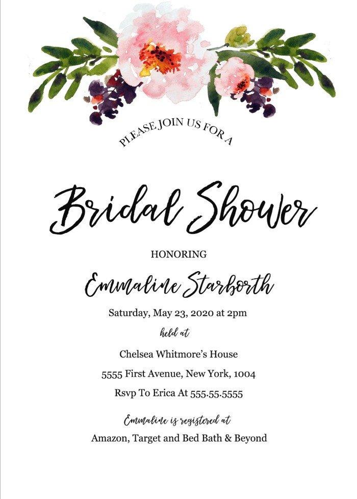 Free Bridal Shower Templates Print Free Wedding Shower Invitation Template