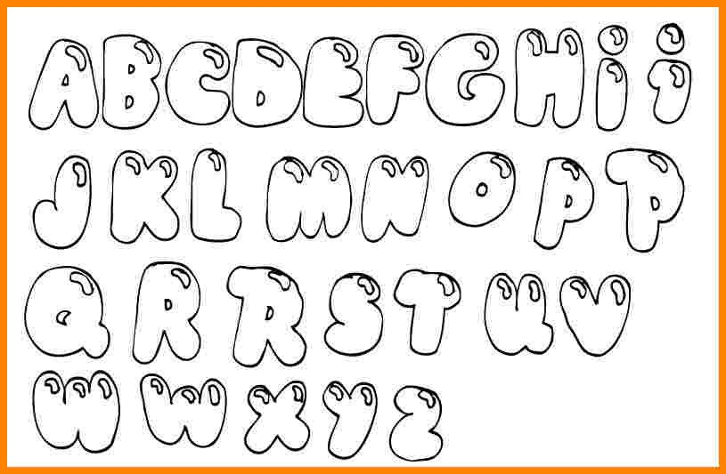 Free Bubble Letter Font Bubble Letters Coloring