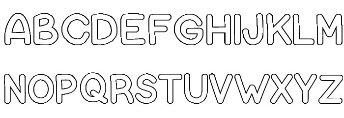 Free Bubble Letter Font Bubble Letters Font Free Fonts