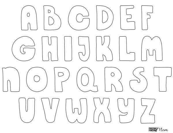 Free Bubble Letter Font Free Printable Bubble Letters
