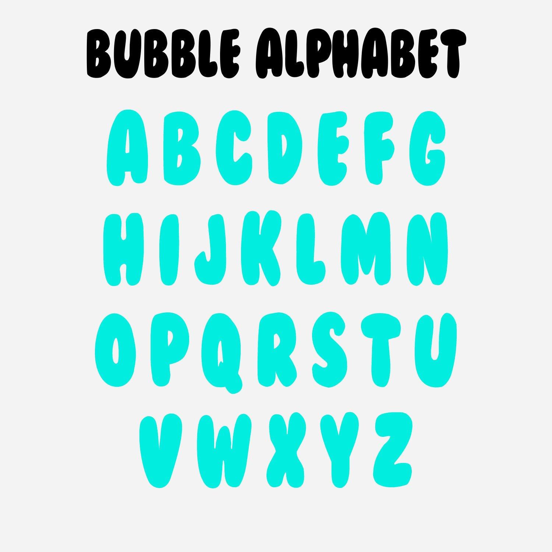Free Bubble Letters Fonts Bubble Alphabet Bubble Numbers Svg Svg File Bubble Font
