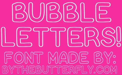 Free Bubble Letters Fonts Bubble Letters Font