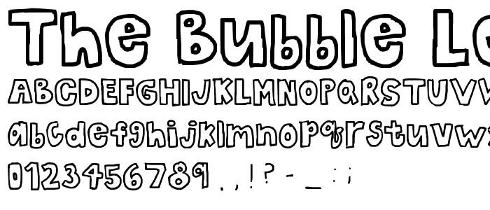 Free Bubble Letters Fonts the Bubble Letters Font Fancy Cartoon Pickafont