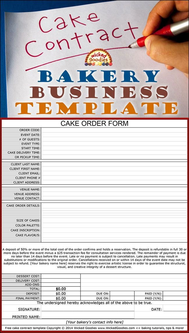Free Cake Contract Template How to Write A Cake Contract