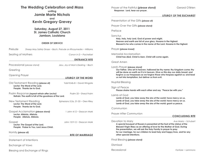 Free Catholic Wedding Ceremony Program Template Free Wedding Program Templates – No Cover – Wedding