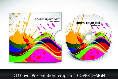 Free Cd Cover Template Illustrator Cd Cover Template Free Vector