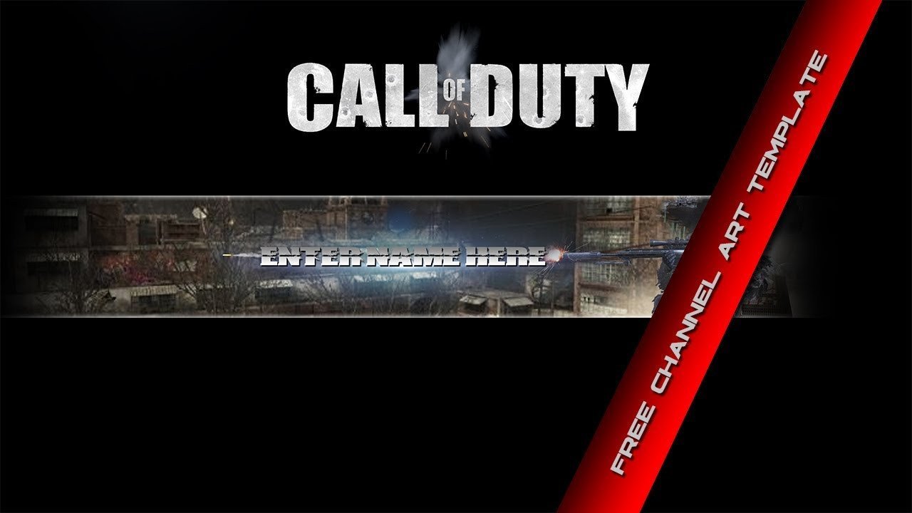 Free Channel Art Template Call Of Duty Free Channel Art Template