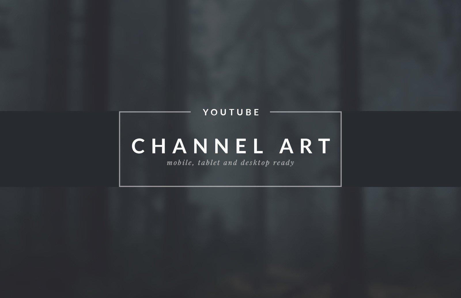 Free Channel Art Template Channel Art Templates — Medialoot