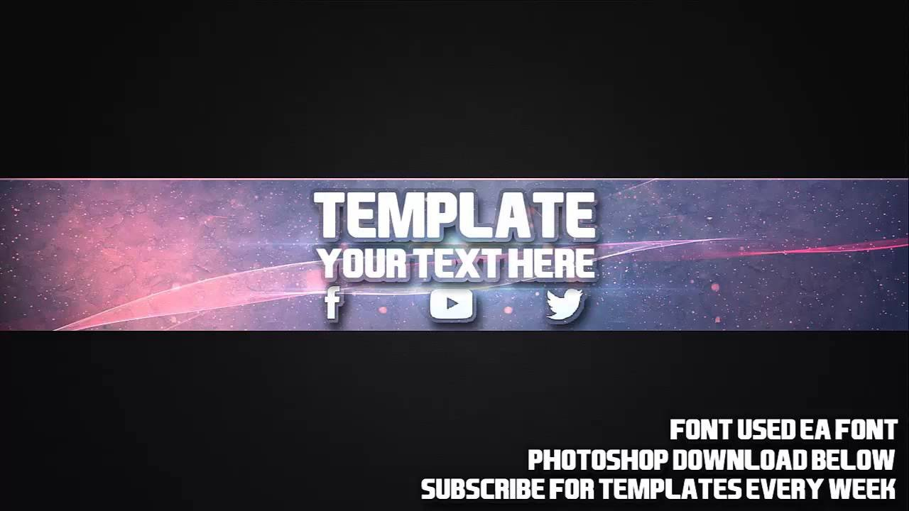 Free Channel Art Template Cool Channel Art Template 18 Free Shop Download