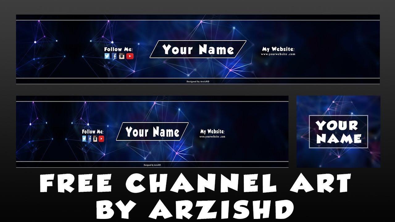 Free Channel Art Template Free Channel Art Banner Template by Arzishd