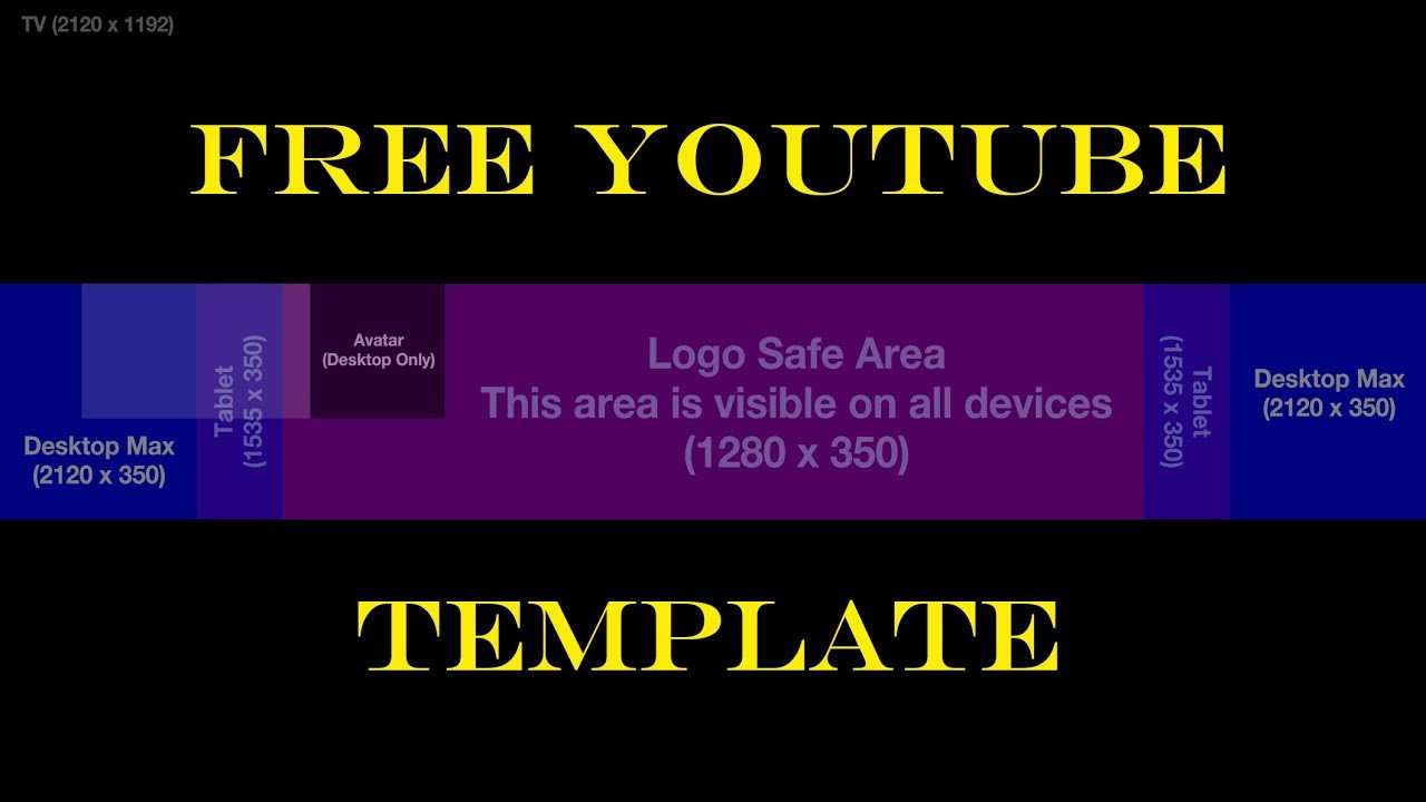 Free Channel Art Template Free Youtube Channel Art Template