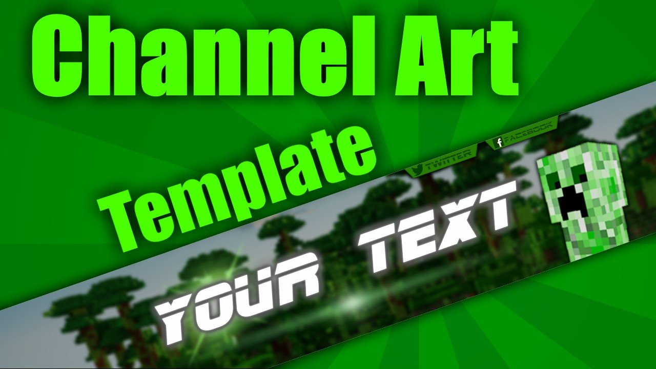 Free Channel Art Template Minecraft Channel Art Template Minecraft Blog