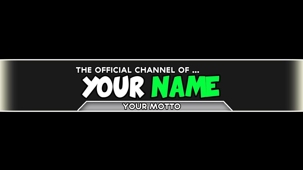 Free Channel Art Template Shop Channel Art Template