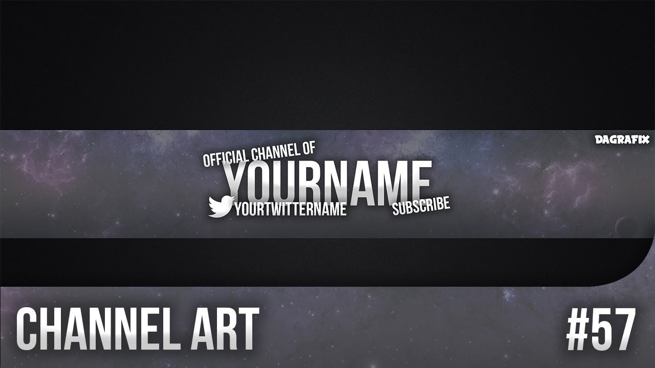 Free Channel Art Template Simple Channel Art Template 57 Free Shop Download