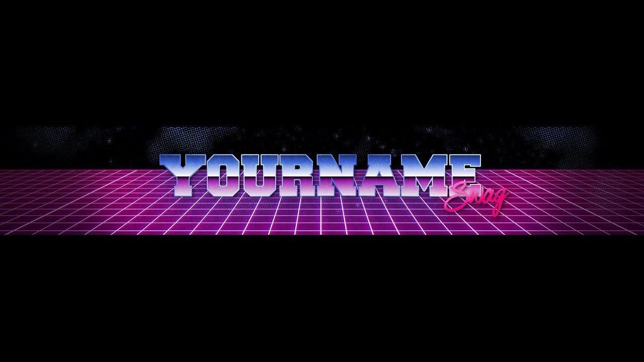 Free Channel Art Template Youtube Channel Art Template